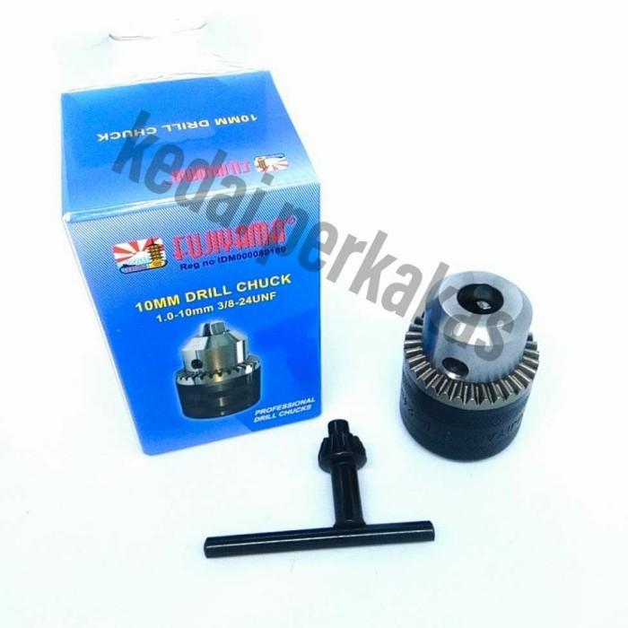 Foto Produk Kepala mesin bor 10mm/Kepala bor 10mm/Drill Chuck 10mm dari Kedai Perkakas