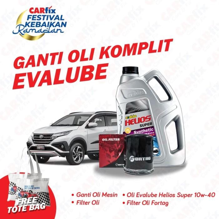 Foto Produk Ganti Oli Komplit Evalube Rush - CARfix JATENG DIY FREE totebag dari CARfix Indonesia