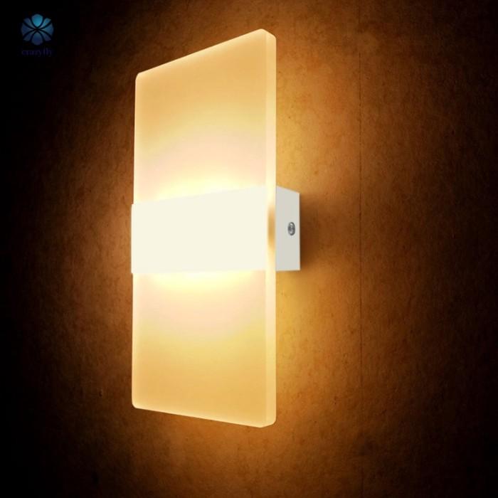 Jual Wall Lighting 6w Led Sconce Light Acrylic Wall Lamp For Living Room Kab Tangerang Deixy Tokopedia