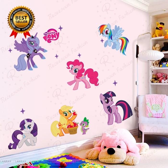 Jual Stiker Dinding Desain Kartun My Little Pony Untuk Kamar Anak Kab Bogor Yayangstore9 Tokopedia