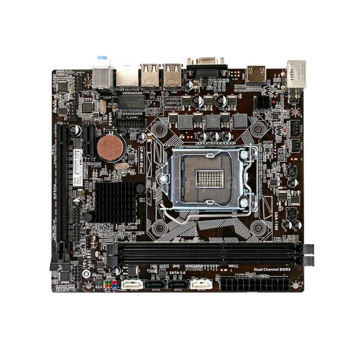 Foto Produk Colorful C.H81-DS Motherboard All-Solid-State DDR3 SATA3.0 Mainboard dari Majapat Acs