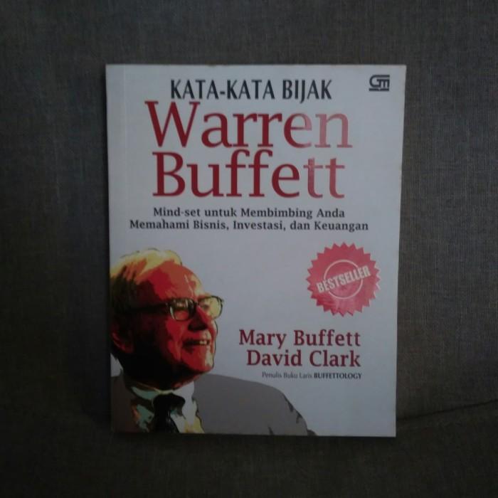 Jual Kata Kata Bijak Warren Buffett Mary Buffett David Clark Kota Surakarta Laksono Buku Tokopedia