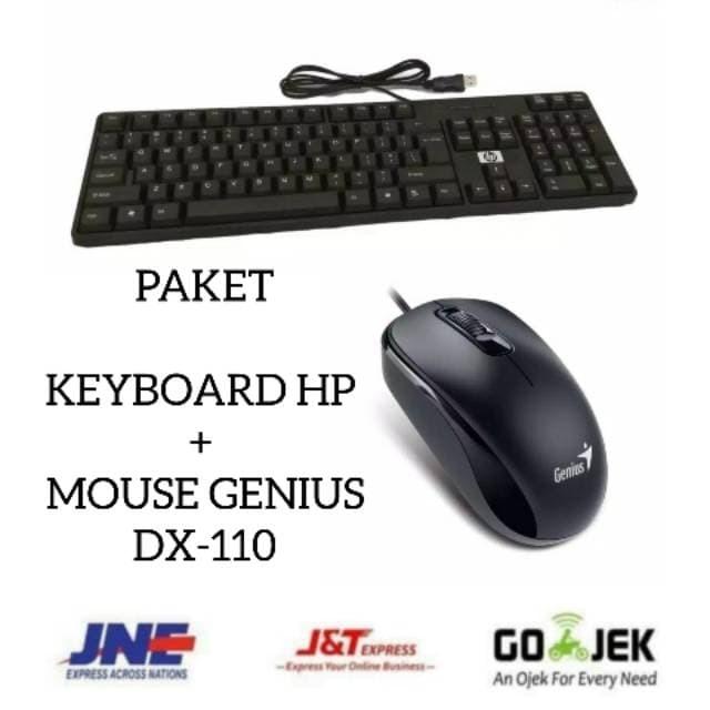Foto Produk PAKET KEYBOARD HP + MOUSE WIRED GENIUS DX-110 OPTICAL USB dari Sukses 88 Computer