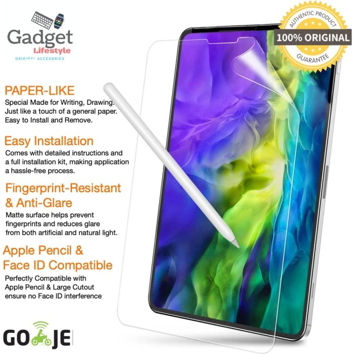 Foto Produk ESR Paperlike Screen Guard iPad Pro 11 / 12.9 2020 Not Tempered Glass - iPad Pro 12.9 dari Gadget Check Shop