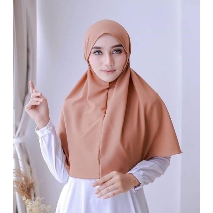 Foto Produk Bergo Tali Hijab Jilbab Kerudung Khimar Instan Tali Tanpa Pet dari beautycornerjogja