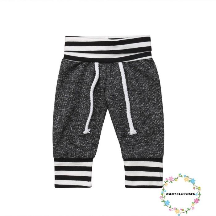 Jual Celana Legging Panjang Motif Garis Untuk Newborn Bayi Laki Laki Jakarta Barat Id Black Tokopedia