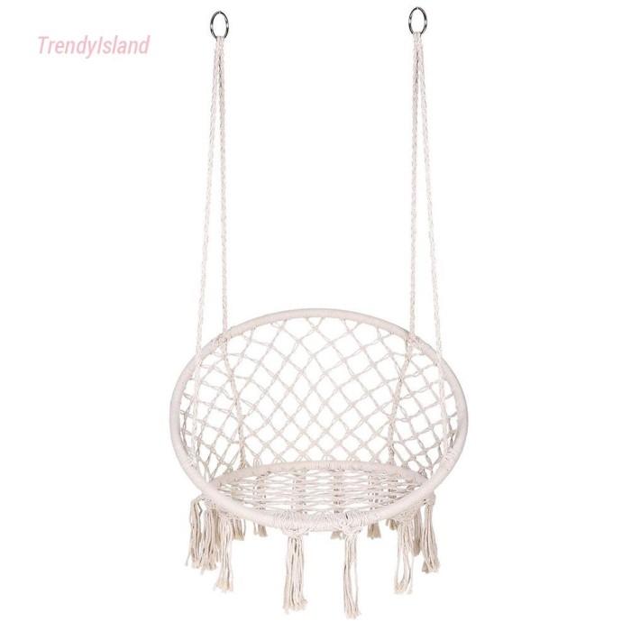 Jual Safe Beige Hanging Hammock Chair Swing Rope Outdoor Jakarta Utara Zenta Store Tokopedia