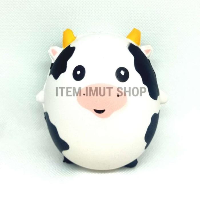 Foto Produk Mainan Anak Wishy Squishy Pets Original Murah Cow Sapi DUDU dari Saint Sticker