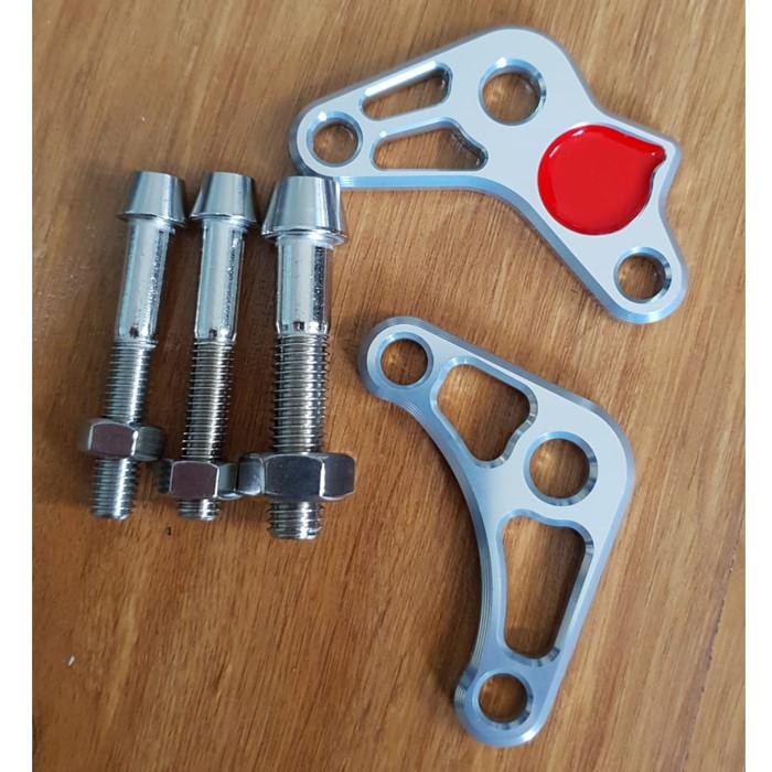 Foto Produk Marus Shock Adaptor Silver Vespa Sprint & Primavera (CNC) dari Gaya Motor Baru