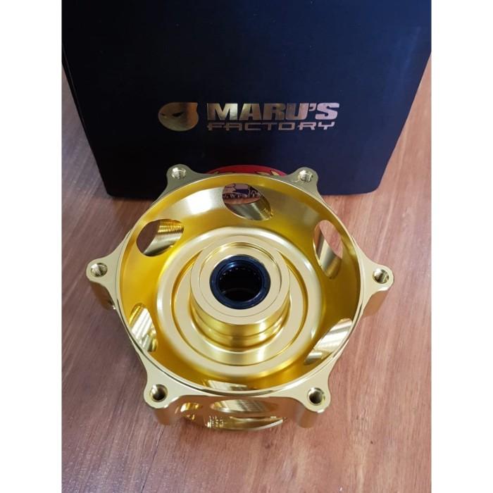 Foto Produk Marus Front Hub Vespa GTS Gold (CNC) dari Gaya Motor Baru