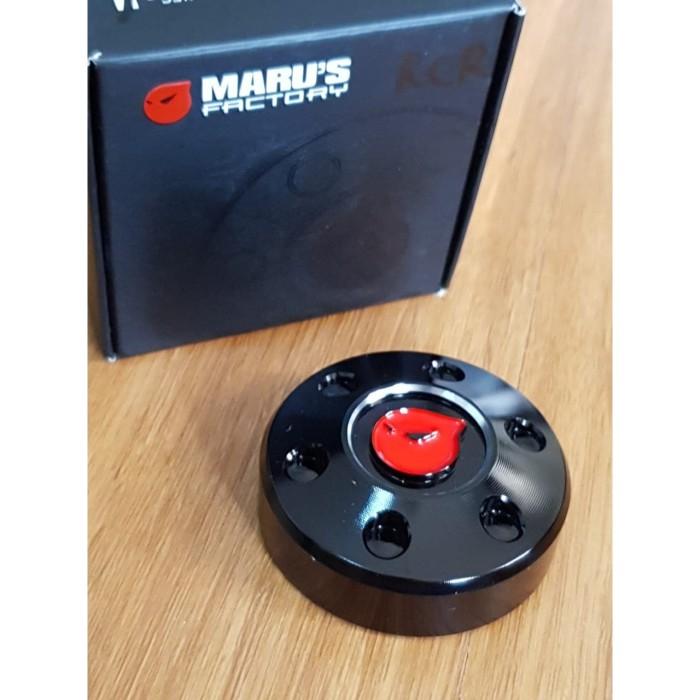 Foto Produk Marus Fuel Cap Black all modern Vespa(CNC) dari Gaya Motor Baru