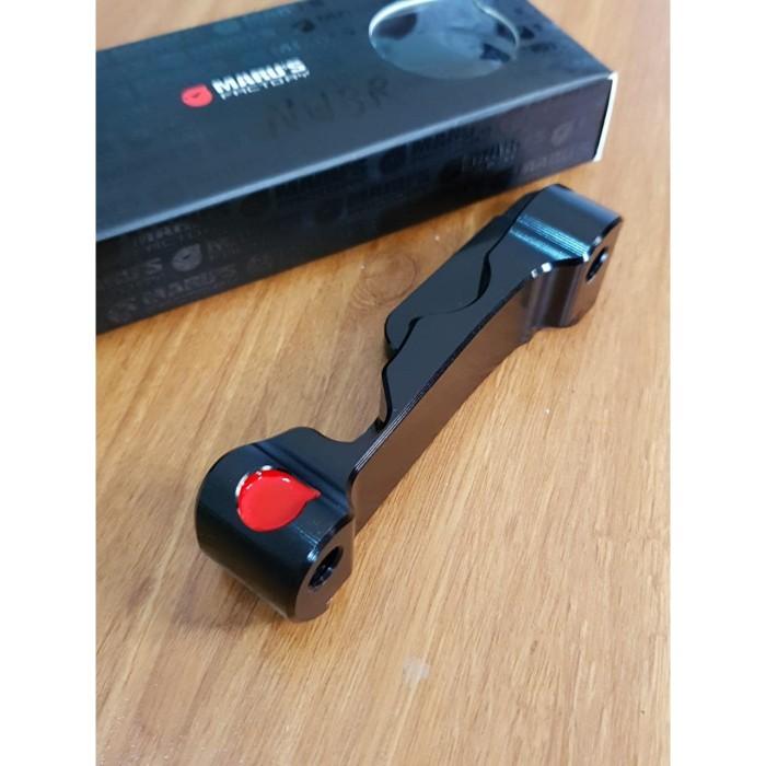 Foto Produk Marus Front Brembo Adaptor Radial 100mm Black (CNC) dari Gaya Motor Baru