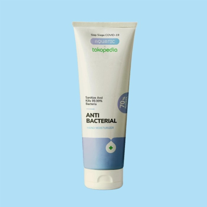 Foto Produk Tokopedia x Aquatic Anti-Bacterial Hand Moisturizer Gel dari Tokopedia Merchandise
