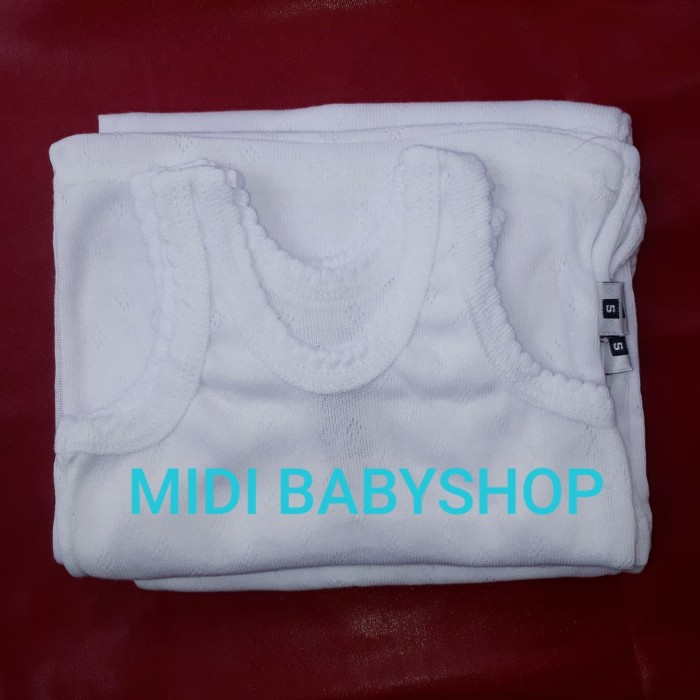 Foto Produk Singlet Bayi/Kaos dalam bayi polos ukuran S dari Midi Babyshop