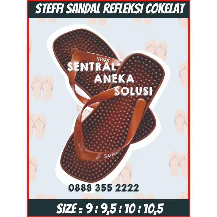 Foto Produk Sandal jepit sendal kesehatan refleksi rematik akupuntur duri banyak - Cokelat dari Sentral Stationery