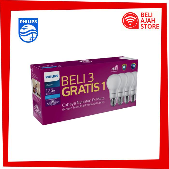 Jual Lampu Led Paket Philips 12w Putih Isi 4 Promo 12 W Multipack Mycare Kota Bandung Beli Ajah Store Tokopedia