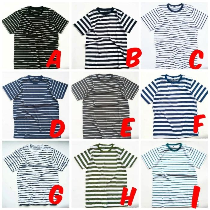 Foto Produk Kaos salur Dewasa / Kaos stripe / KAOS PRIA DAN WANITA dari BaleMarket