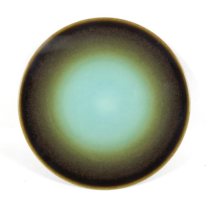 Foto Produk Artisan Ceramic |Green Brush Brown Side Plate | Piring Keramik dari Artisan Ceramic