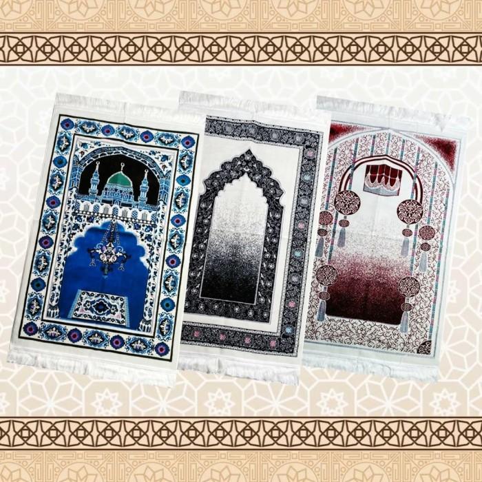 Foto Produk sajadah white mewah safa𝘁𝗲𝗸𝘀 dari Muslim Giftmart