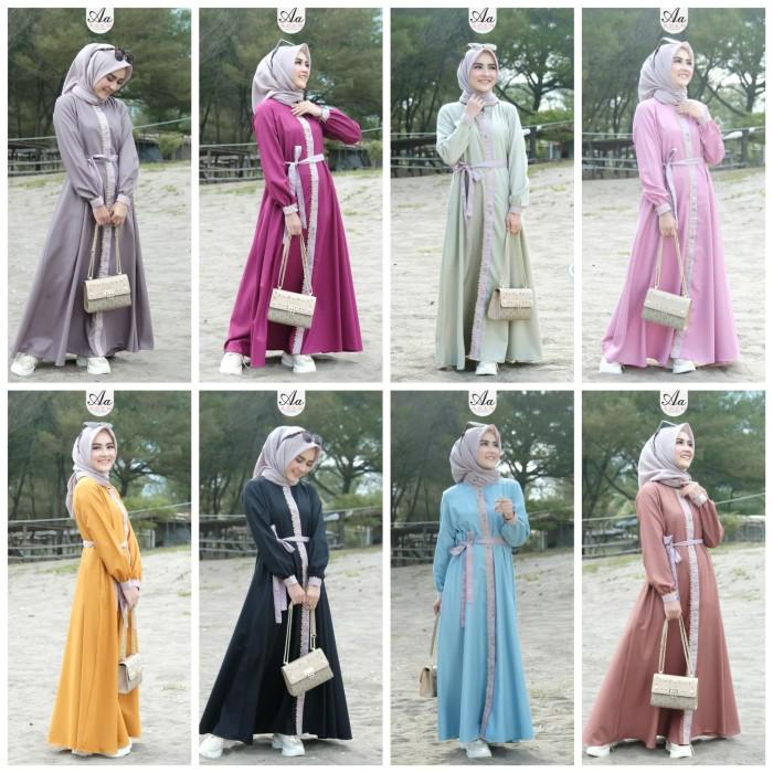 Jual Nadhira Dress By Aden Gamis Terbaru Nadhira Aden Gamis Aden Ori Kab Pemalang Siti Klambi Muslim Tokopedia