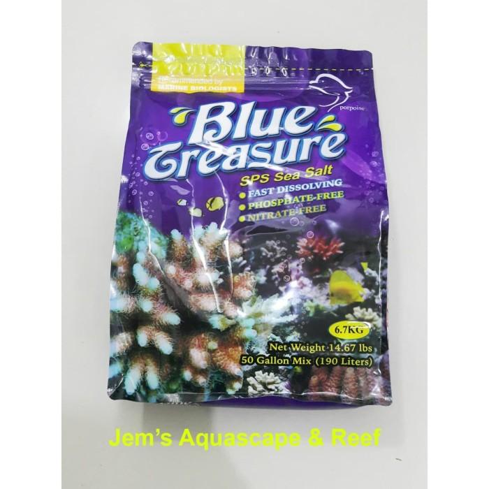 Jual Garam Laut Sintetis Artificial Saltwater Blue Treasure Sps Salt 6 7 Kg Jakarta Barat Jem S Aquascape And Reef Tokopedia