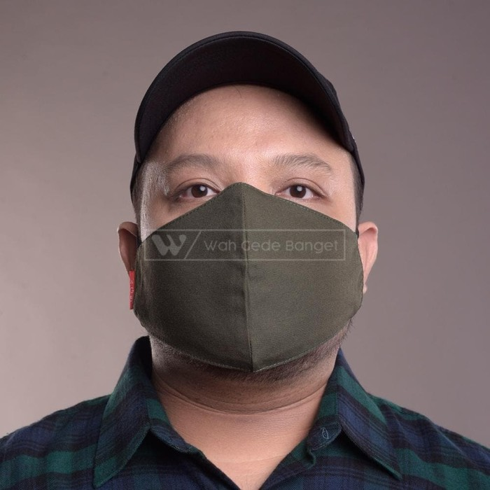 Foto Produk Masker Kain Army BIGSIZE Bahan 2 Lapis Tebal Earloop Korea Anti Virus dari WGB