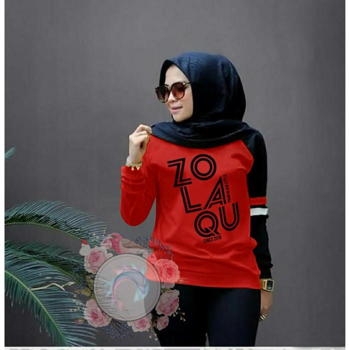 Foto Produk [ethnes] Blouse Wanita Muslim Zolaqu bahan Babyterry - 66 - Merah dari ethne's