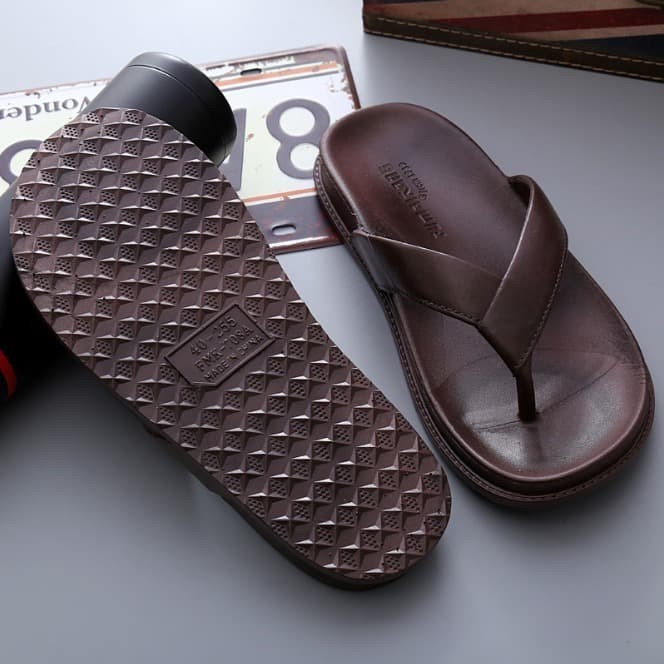 Foto Produk Sandal Karet Flip Flop - Sandal Pria Dan Wanita - Sandal Karet Import - Hitam, 40 dari Slalustok Store