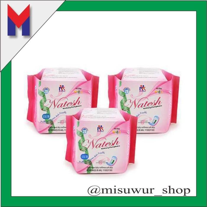 Foto Produk 3 box Pembalut Herbal Natesh Pantyliner KK Indonesia ORIGINAL dari Misuwur Shop