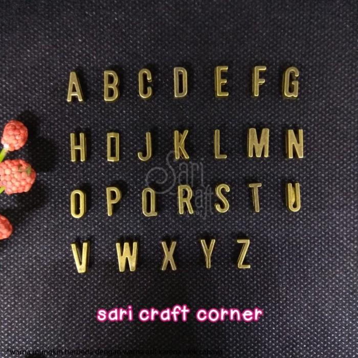 Foto Produk Charm Huruf Alfabet Abjad - Alphabet Letter Slide Charm Antique Bronze - Antique Bronze dari Sari Craft Corner