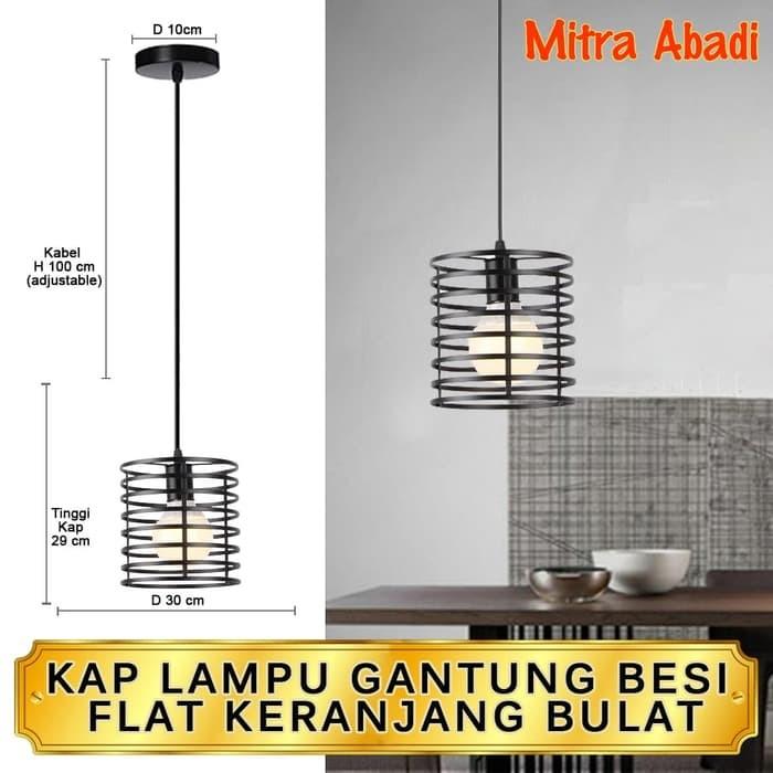 Jual NEW Kap Lampu Gantung Besi Flat Keranjang Bulat Cafe Vintage Edison - Jakarta Barat - Krido Store 88 | Tokopedia