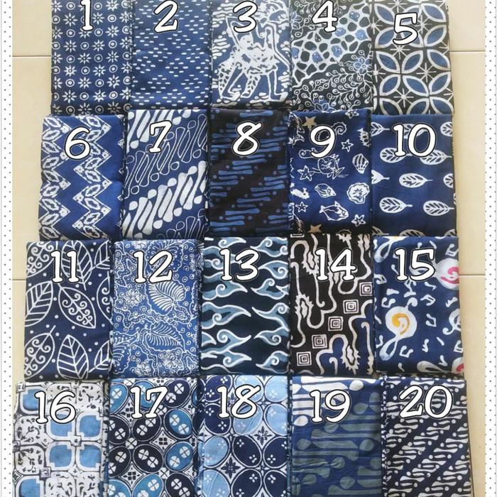 Foto Produk Kain Batik Cap Handmade Serian Biru Elektrik (slide 1.2.3) dari Beautique Batik Aini
