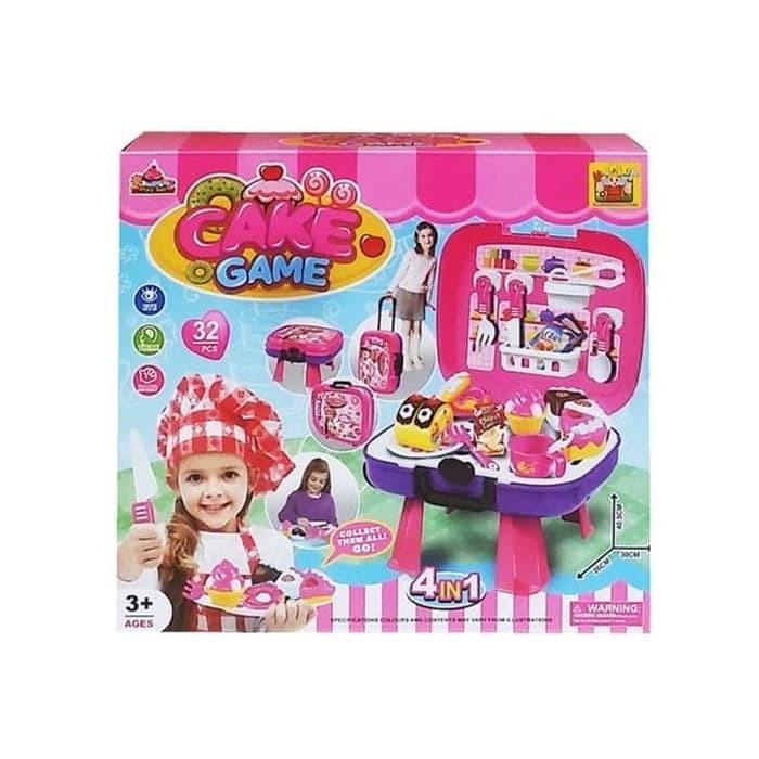 Foto Produk Mainan Anak - Cake Game 4 in 1 Playset Party Game Koper Kue Potong dari Lumi Toys