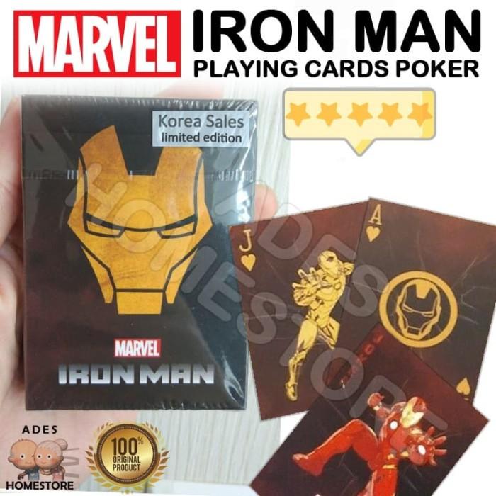 Foto Produk IRON MAN - TONY STARK Poker Playing Cards (Marver Korea Limited ver) dari ADES homestore