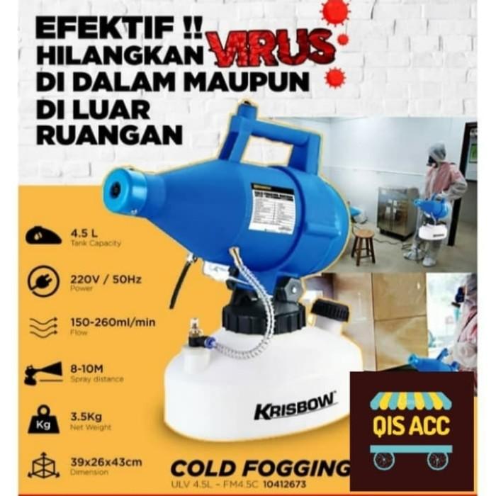 Jual Krisbow Mesin Cold Fogging Portable 4.5 Ltr