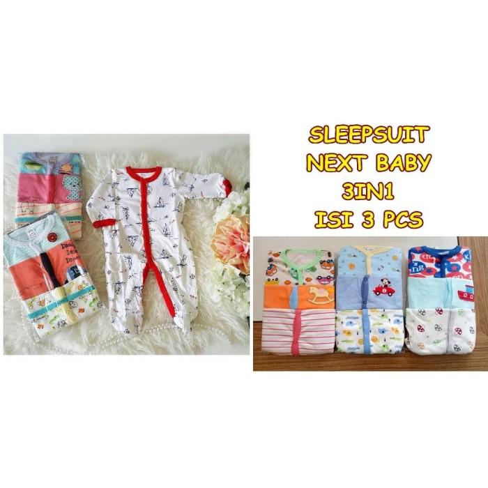 Foto Produk SLEEPSUIT BABY 3 IN 1 ISI 3 PCS JUMPSUIT BAYI PIYAMA BAYI dari Liana Baby