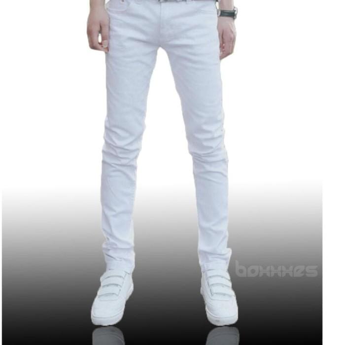 Foto Produk CHEAP MONDAY celana jeans pensil slimfit celana panjang pria putih - CM Putih, S dari etalase kami