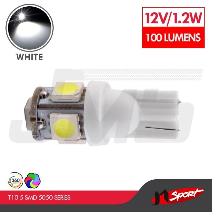 Foto Produk Lampu LED Senja T10 5 SMD 5050 Side Wedge - White dari Jaya Motorsport