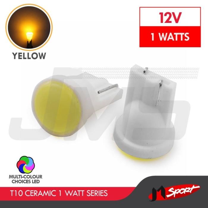Foto Produk Lampu LED Senja / Wedge Side T10 W5W 6 COB Ceramic LED 1W - Yellow dari Jaya Motorsport