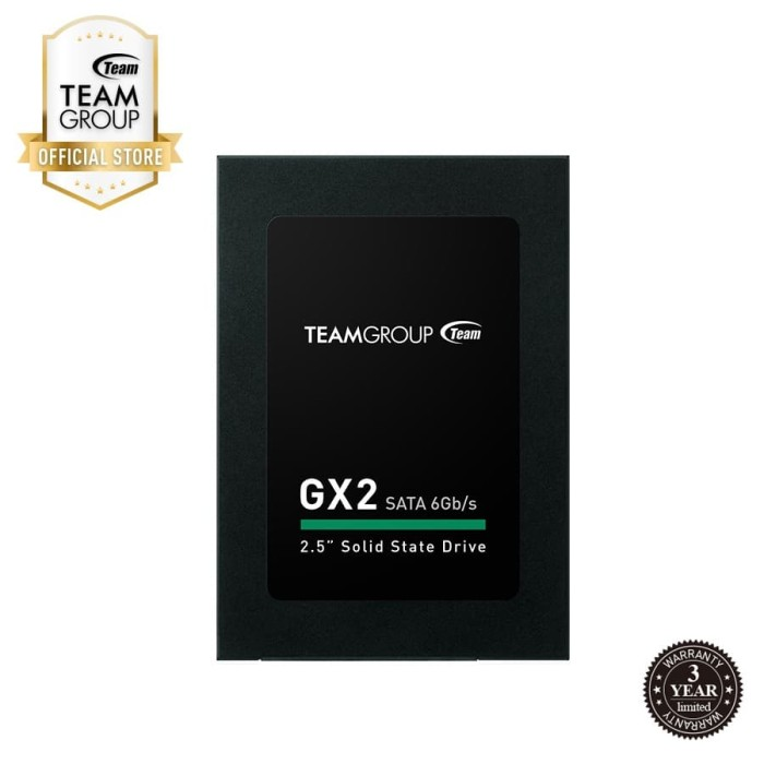 "Foto Produk TEAMGROUP SSD 2.5"" GX2 512GB Black dari Teamgroup Official Store"