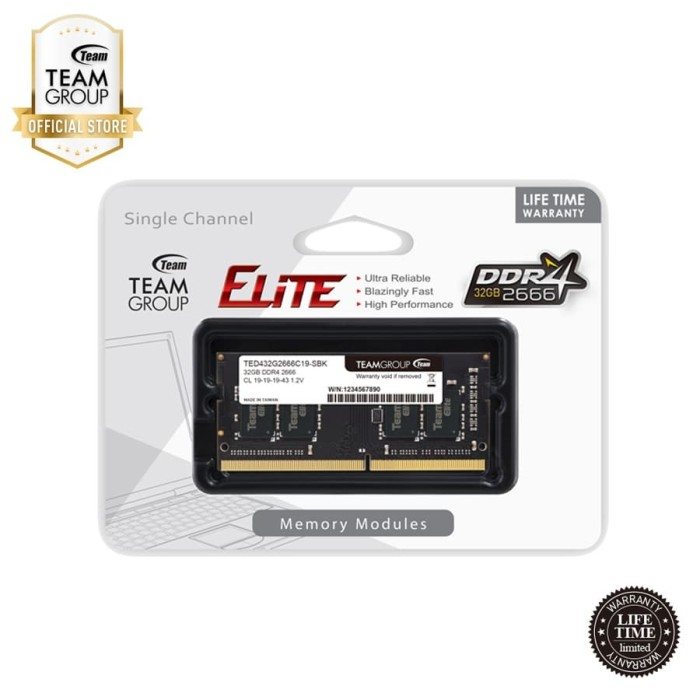 Foto Produk TEAMGROUP Memory Notebook DDR4 32GB 2666Mhz dari Teamgroup Official Store