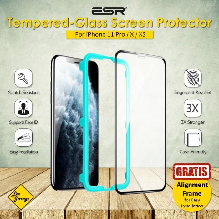 Foto Produk Tempered Glass iPhone 11 Pro X XS ESR Screen Protector dari Lex Garage