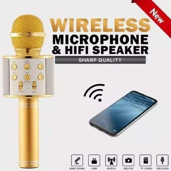Foto Produk Mic Microphone Speaker Bluetooth Karoke Wireless Smule Karaoke Q7 Sale dari Elogue Store