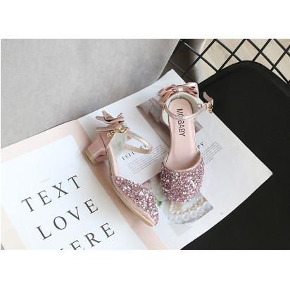 Foto Produk sepatu pesta anak perempuan import ribbon back pink dari Butik 85