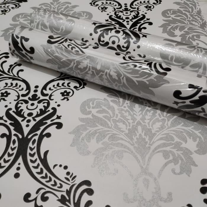 Jual Wallpaper Dinding Motif Batik Hitam Silver Jakarta Barat Fitrahakbar Tokopedia