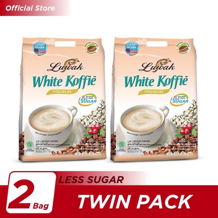 Foto Produk Kopi Luwak White Koffie Less Sugar Bag 20x20gr Twin Pack dari Kopi Luwak Official