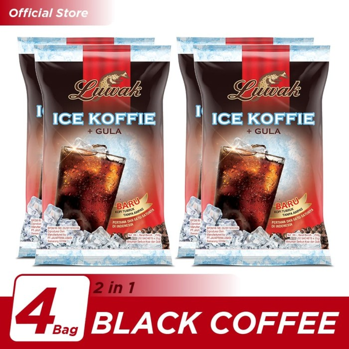 Foto Produk Kopi Luwak Ice Koffie Black Coffee Bag 10x25gr - 4 Pcs dari Kopi Luwak Official