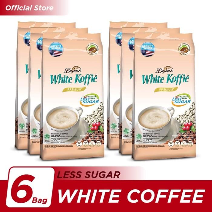 Foto Produk Kopi Luwak White Koffie Less Sugar Bag 10x20gr - 6 Pcs dari Kopi Luwak Official