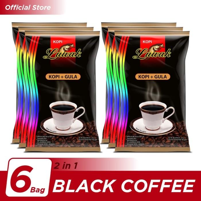 Foto Produk Kopi Luwak Plus Gula Black Coffee Bag 10x25gr - 6 Pcs dari Kopi Luwak Official