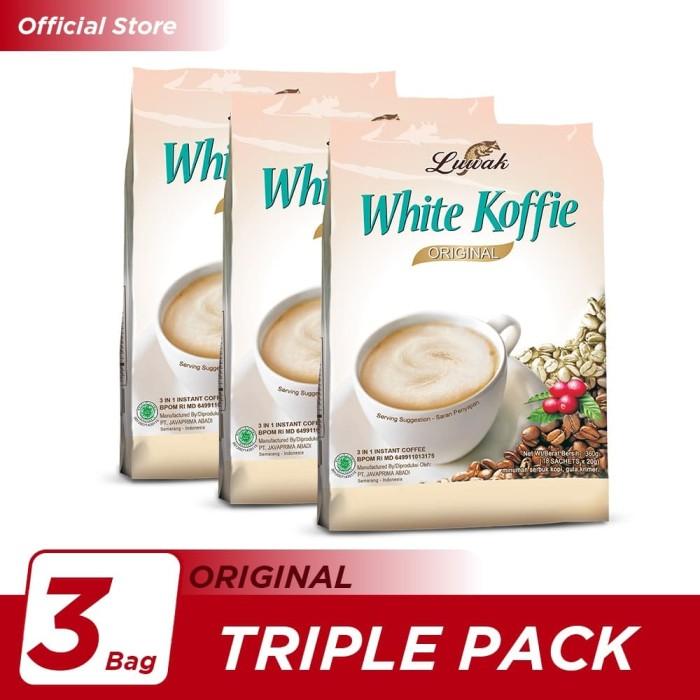 Foto Produk Kopi Luwak White Koffie Original Bag 18x20gr Triple Pack dari Kopi Luwak Official